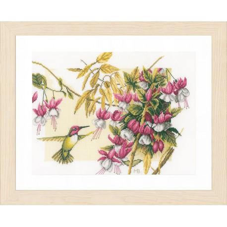 Colibri & flowers Набор для вышивания LanArte PN-0165379