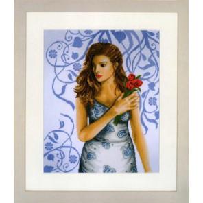 Lady in blue Набор для вышивания LanArte PN-0008102