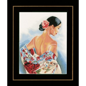 Flower scarf Набор для вышивания LanArte PN-0154991