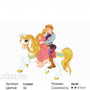 Сложность и количество красок  Спасенная принцесса Раскраска по номерам на холсте CX3435