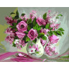 Нежно-розовый букет Раскраска картина по номерам на холсте GX22401