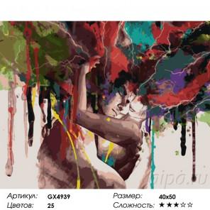 Сложность и количество красок  Акварельное безумие Раскраска картина по номерам на холсте GX4939