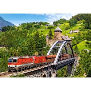 Поезд на мосту Пазлы Castorland B52462