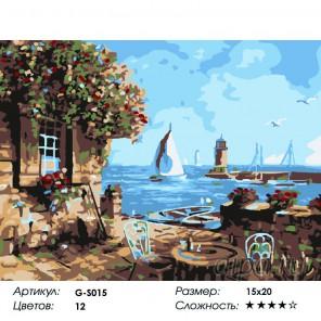 Сложность и количество красок  Летнее кафе Раскраска мини по номерам G-S015