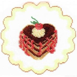 Пирожное с вишней Набор для вышивания Овен