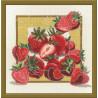 Пример оформления в рамке Дары садов Клубника Набор для вышивания Овен 458