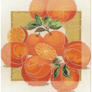 Пример оформления в рамке Дары садов Апельсины Набор для вышивания Овен 460
