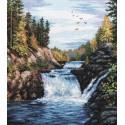 Водопад Кивач Набор для вышивания Овен