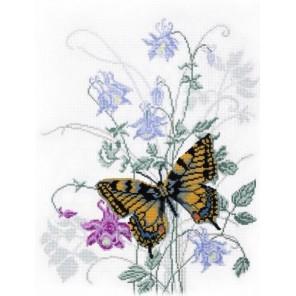 Бабочка на водосборе Набор для вышивания Овен