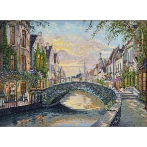 Бельгия. Закат в Брюгге Набор для вышивания Овен