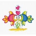 Влюбленные рыбки Набор для вышивания Овен