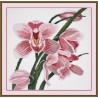 Пример оформления в рамке Зов орхидеи Набор для вышивания Овен 762