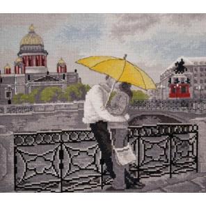 Пример оформления в рамке Романтика Петербурга Набор для вышивания Овен 763