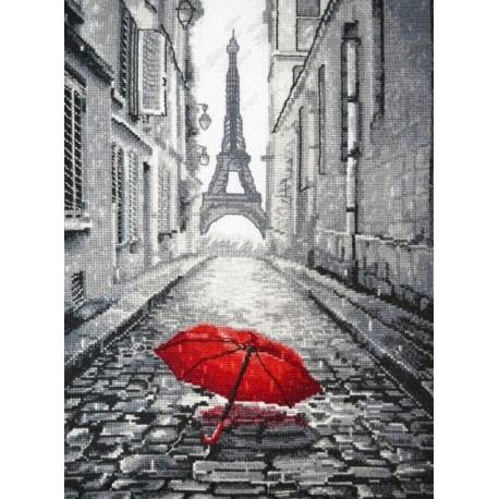 В Париже дождь Набор для вышивания Овен