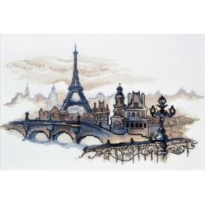 Пример оформления в рамке Силуэты Парижа Набор для вышивания Овен 869