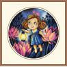 Пример оформления в рамке Алиса и светлячки Набор для вышивания Овен 873