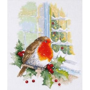 Пример оформления в рамке В преддверии Рождества Набор для вышивания Овен 967