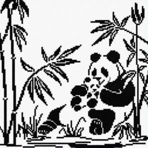 Панды-графика Набор для вышивания Овен