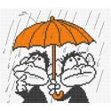 Обезьянки под зонтом Набор для вышивания Овен