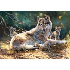 Волки на отдыхе Пазлы Castorland