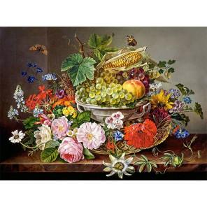 Натюрморт с цветами и фруктами Пазлы Castorland