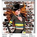 Модница Раскраска картина по номерам на холсте