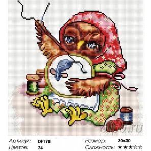 Сложность и количество цветов  Совиная вышивка Алмазная мозаика вышивка на подрамнике DF198