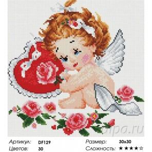 Сложность и количество цветов  Ангелок Алмазная мозаика вышивка на подрамнике DF129