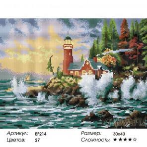 Сложность и количество цветов Маяк в шторм Алмазная мозаика вышивка на подрамнике EF214
