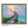 В рамке N133 Лестница в небеса Раскраска картина по номерам на холсте