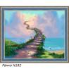 В рамке N182 Лестница в небеса Раскраска картина по номерам на холсте