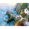 Скалистый берег Греции Раскраска картина по номерам на холсте ZX 20653