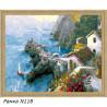 В рамке N118 Скалистый берег Греции Раскраска картина по номерам на холсте