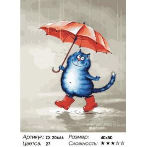 Грибной дождь Раскраска картина по номерам на холсте ZX 20666