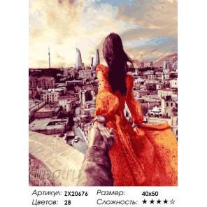 Количество цветов и сложность Баку. Следуй за мной Раскраска картина по номерам на холсте ZX 20676