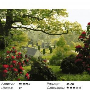Количество цветов и сложность Английский сад Раскраска картина по номерам на холсте  ZX 20726