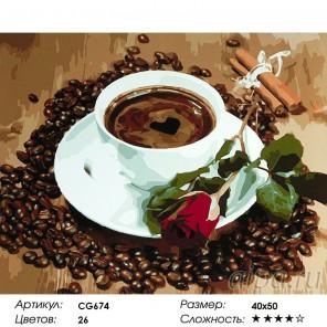 Сложность и количество красок  Утренний сюрприз Раскраска по номерам на холсте CG674