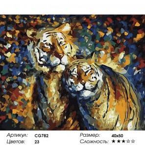 Сложность и количество красок  Сладкая парочка Раскраска по номерам на холсте CG782