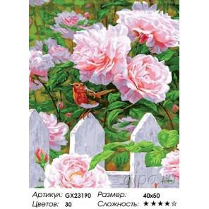 Розы в моем саду Раскраска картина по номерам на холсте
