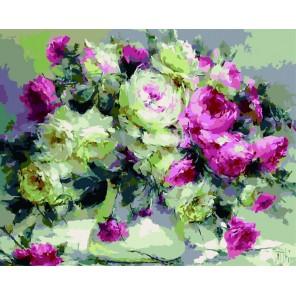Бархатные розы Раскраска по номерам на холсте GX5501