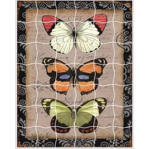 Бабочки Пазл объемный с клеевым покрытием