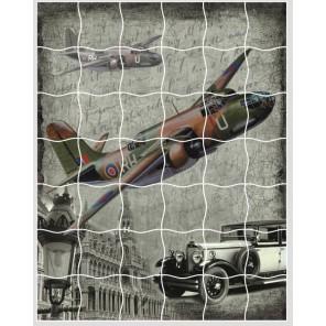 Самолет Пазл объемный с клеевым покрытием