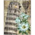 Пизанская башня Пазл объемный с клеевым покрытием