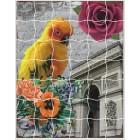 Волнистый попугайчик Пазл объемный с клеевым покрытием