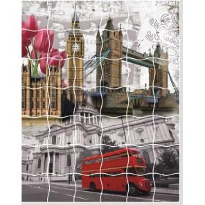 Лондонский коллаж Пазл объемный с клеевым покрытием