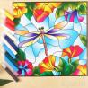 Комплектация Стрекоза Набор с рамкой для создания картины-витража Color Kit