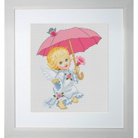 Ангелочек с зонтиком Набор для вышивания Luca-S