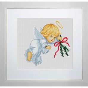 Ангелок с еловой веткой Набор для вышивания Luca-S
