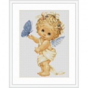 Бабочка и ангел Набор для вышивания Luca-S