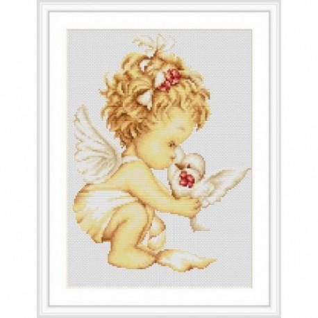 Ангелочек с голубями Набор для вышивания Luca-S